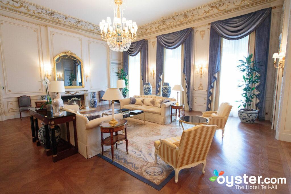 The Imperial Suite at the Shangri-La Hotel Paris