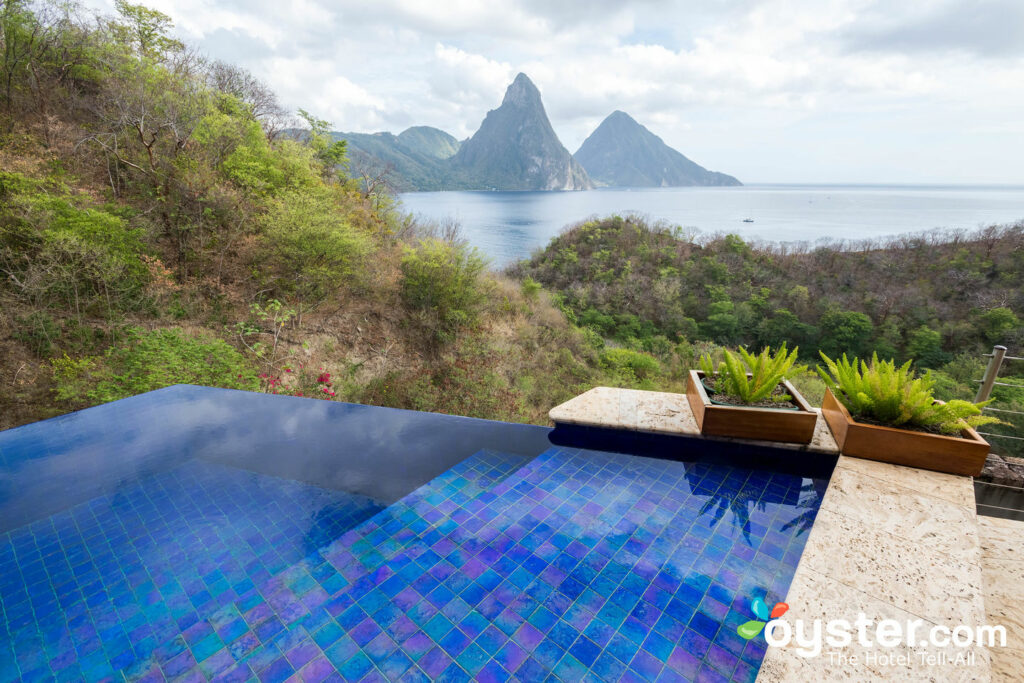 Infinity Pool Sanctuary no Jade Mountain Resort, St. Lucia / Ostra