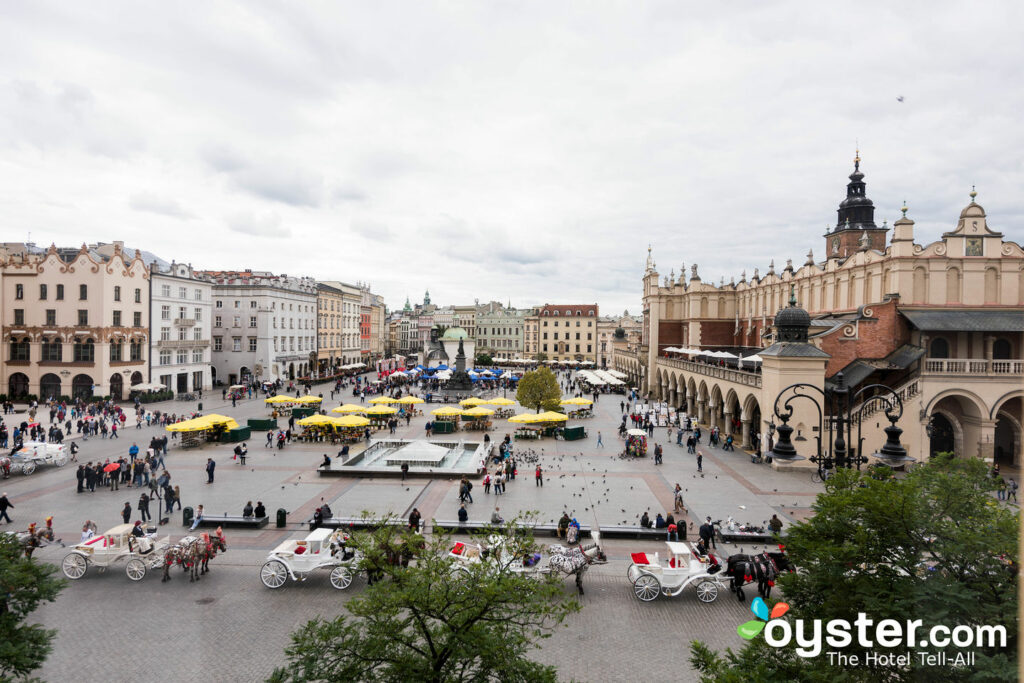 View from the Junior Suite at Betmanowska Main Square Residence/Oyster