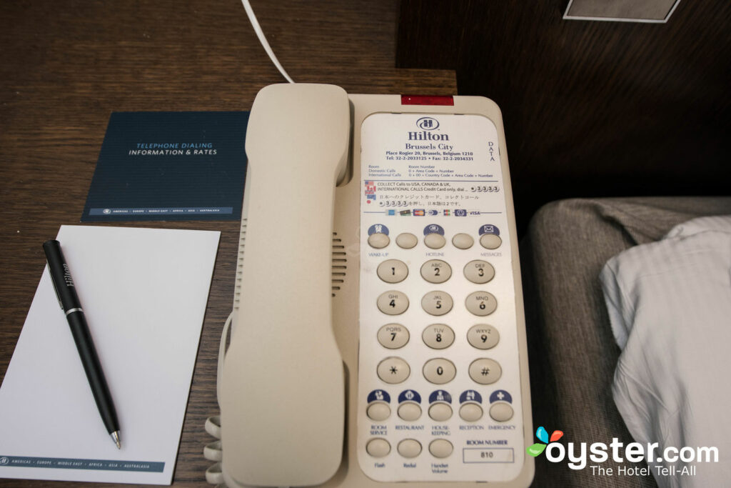 TheHilton Brussels City(NEW on Oyster!) has branded Hilton phones in every room.