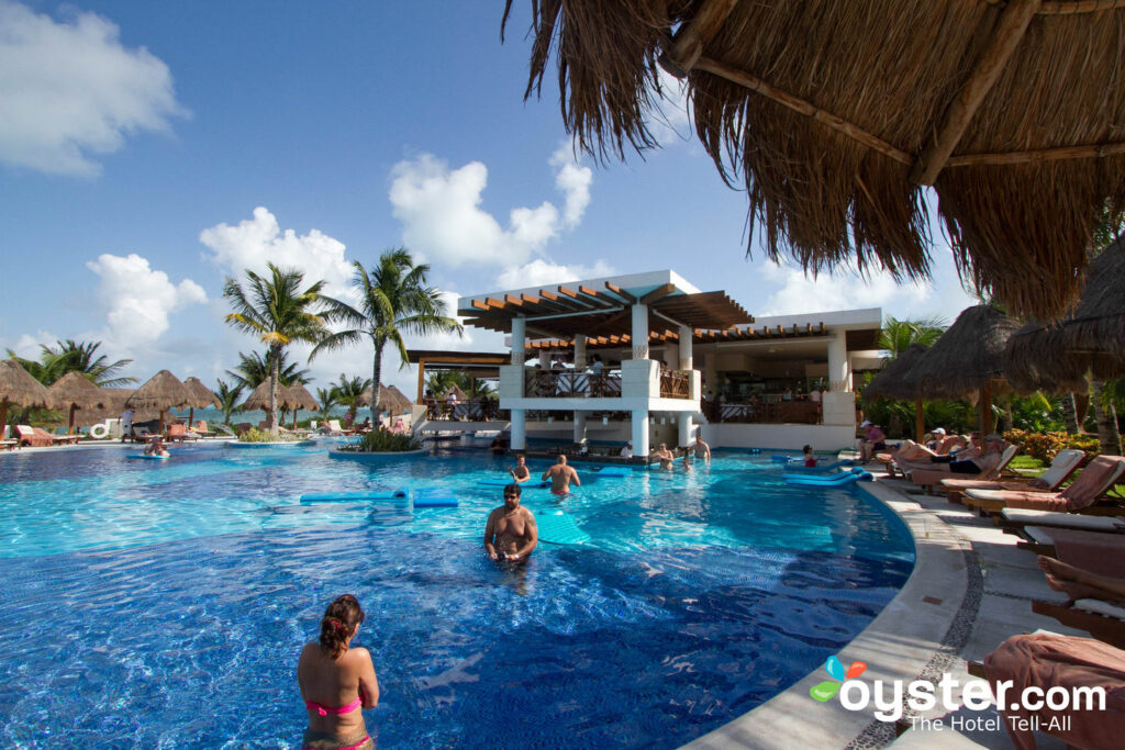 Main swimming pool at Excellence Playa Mujeres