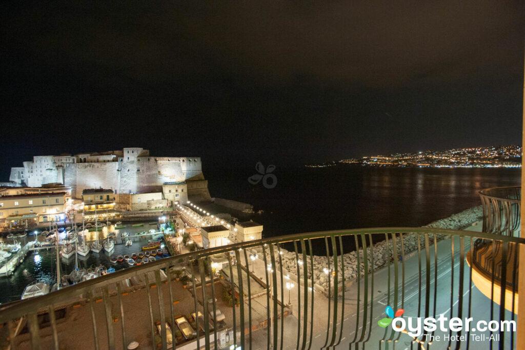 View of Castel dell'Ovo from the Junior Suite at the Grand Hotel Vesuvio