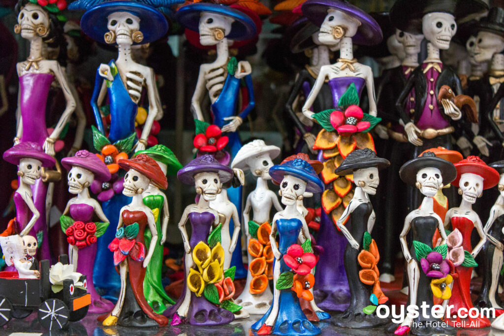Calavera Catrina Figurines at Mercado Ciudadela, Mexico City/Oyster
