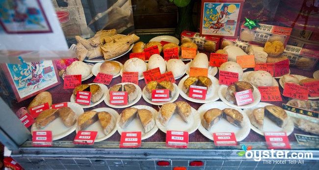 Food display window in San Francisco's Chinatown