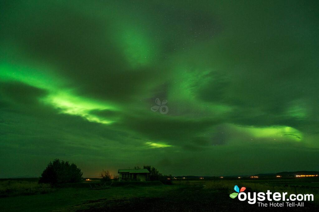 Aurores boréales, Islande / Huître