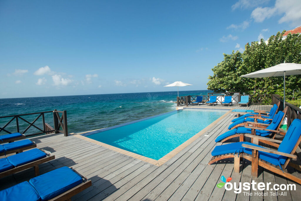 Oceanfront Pool at The Scuba Lodge & Suites, Curacao/Oyster