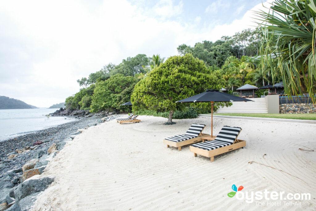 The romantic beach at Australia's Qualia Resort