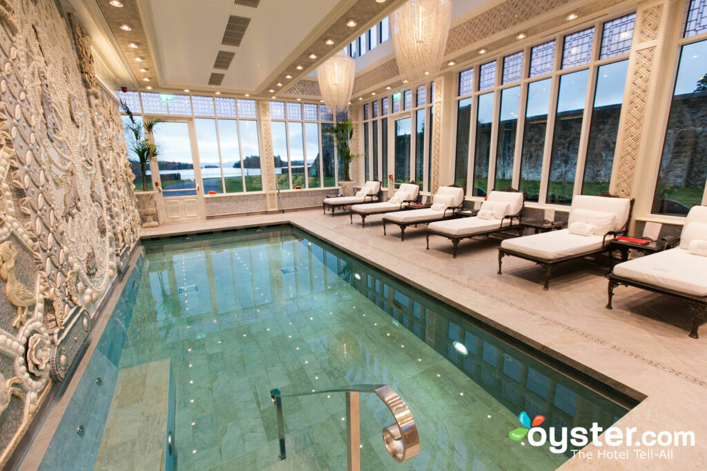 Take in views of the Irish countryside while relaxing at this spa.