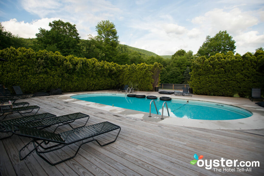 It's pool time with a view at The Graham & Co. in Phoenicia, NY