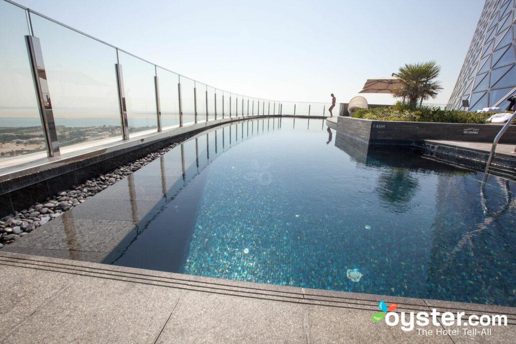 The pool at Hyatt Capital Gate, Abu Dhabi
