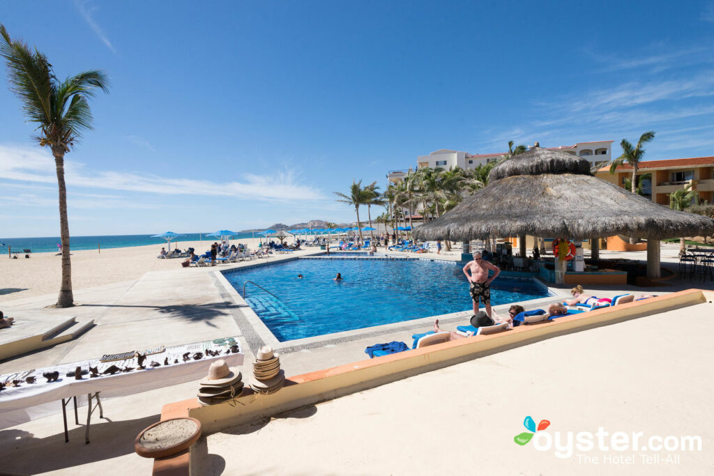 The pool and beach at Posada Real Los Cabos
