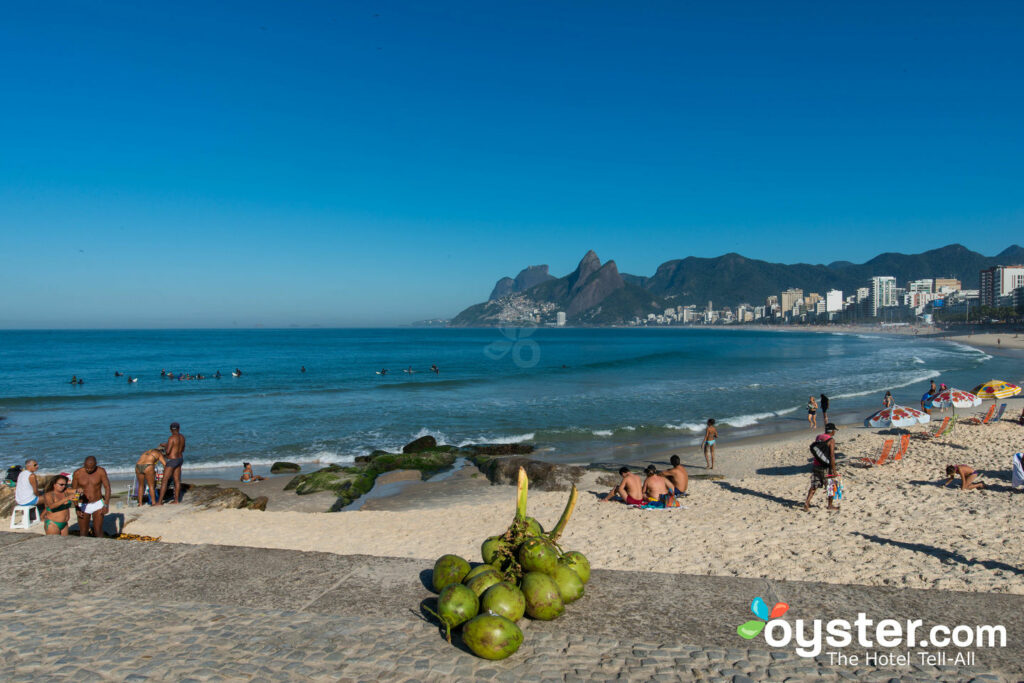 Arpoador Beach and its laid-back vibe on a cloudless Rio day.