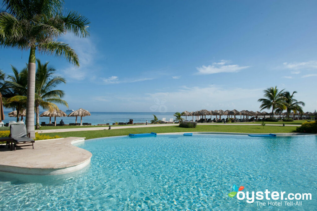 View of the ocean from the preferred pool at Secrets St. James Montego Bay