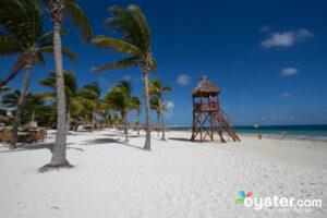 The beach in Cancun.