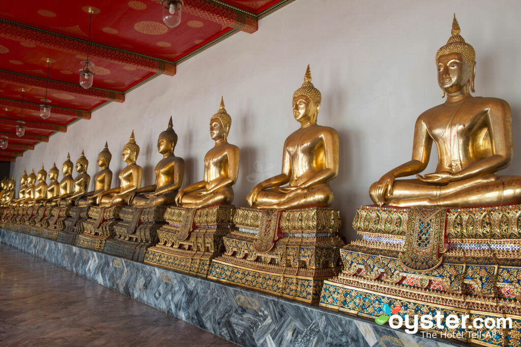 The stunning Buddhas at Wat Pho in Bangkok.