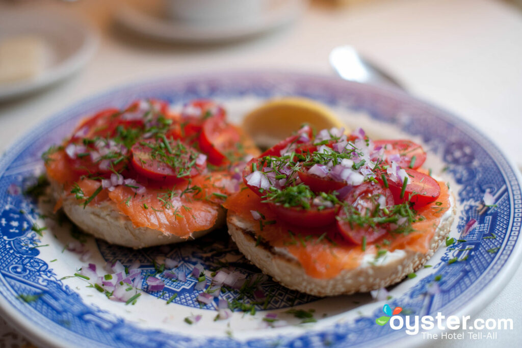 Bagels and lox at the Union Street Inn are fresh and delicious.