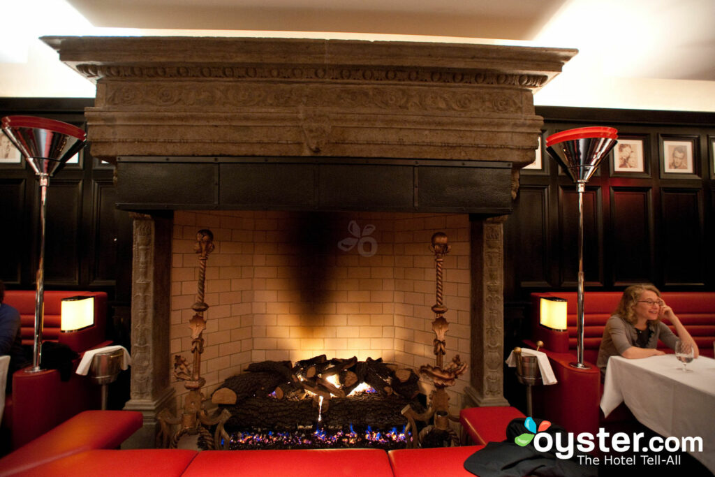 The fireplace looms large -- literally -- at The Chatwal's restaurant
