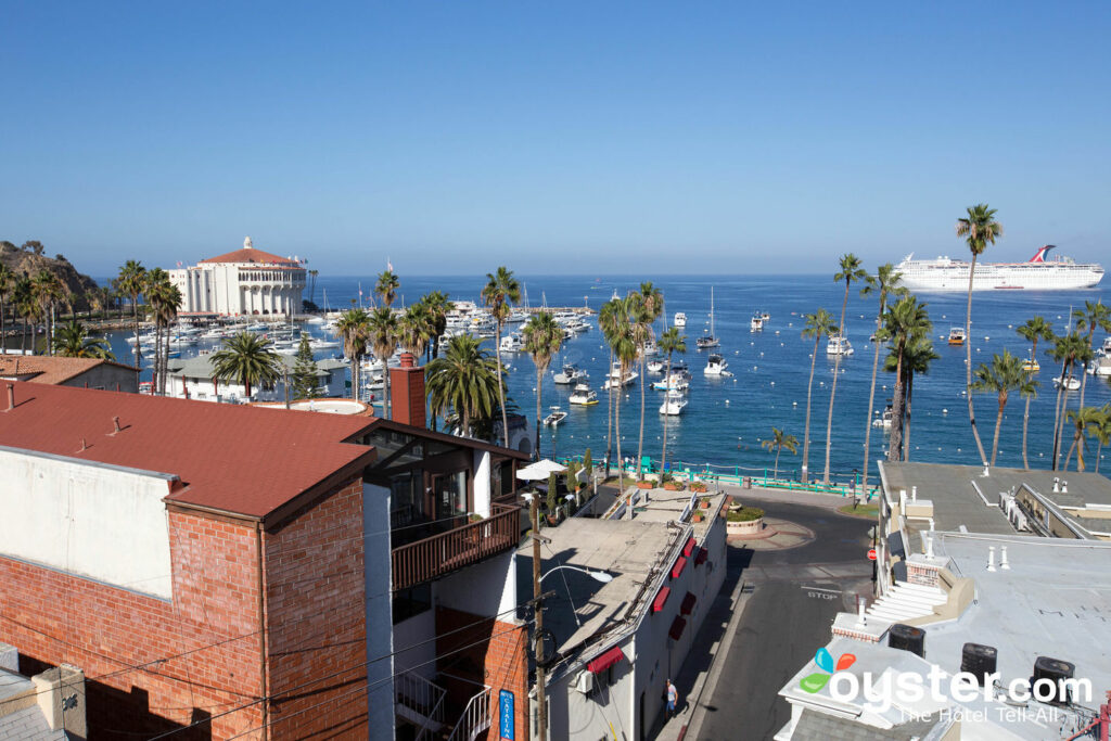 View from the rooftop deck at Avalon Hotel On Catalina Island