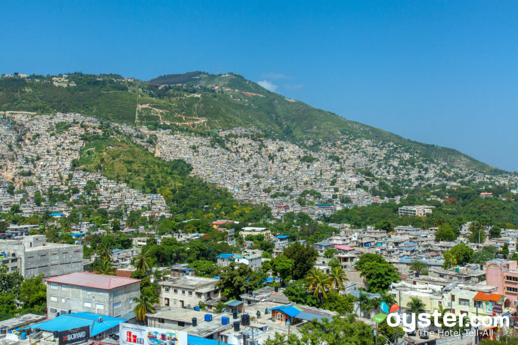 Views of Port-au-Prince hillsides from the Occidental Royal Oasis
