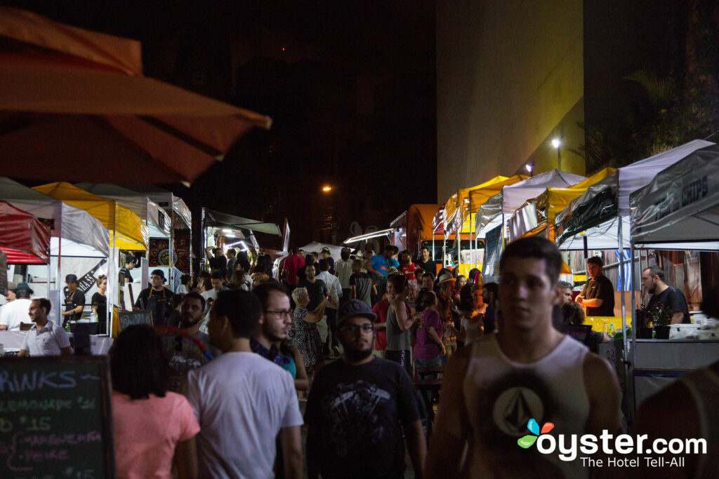 Sao Paulo's streets stay bustling even at night. Sao Paolo/Oyster