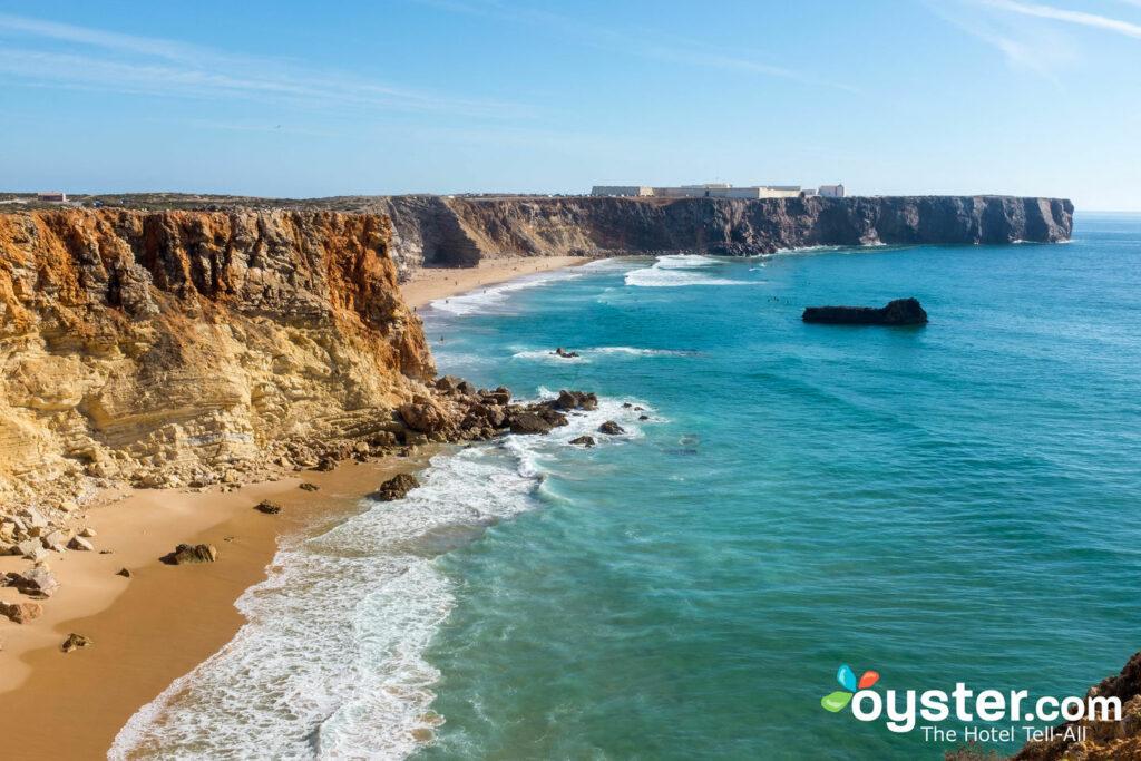 Deux des magnifiques plages de Sagres