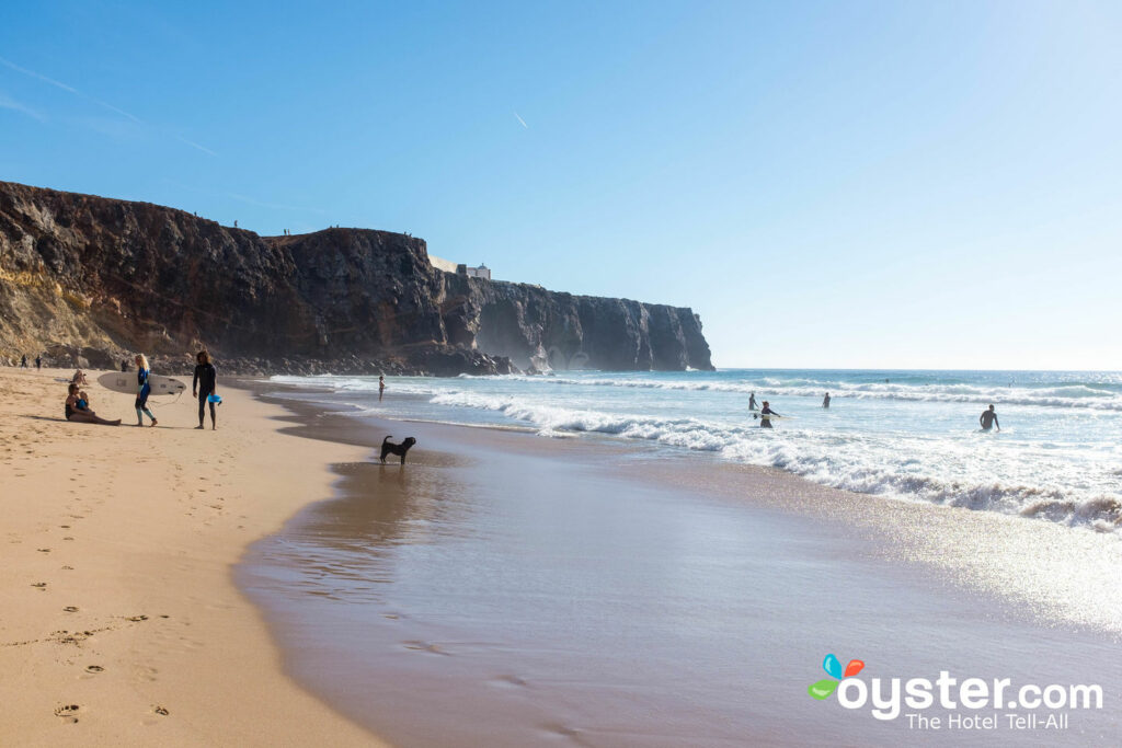 Surfers on Praia do Tunel in Sagres/Oyster