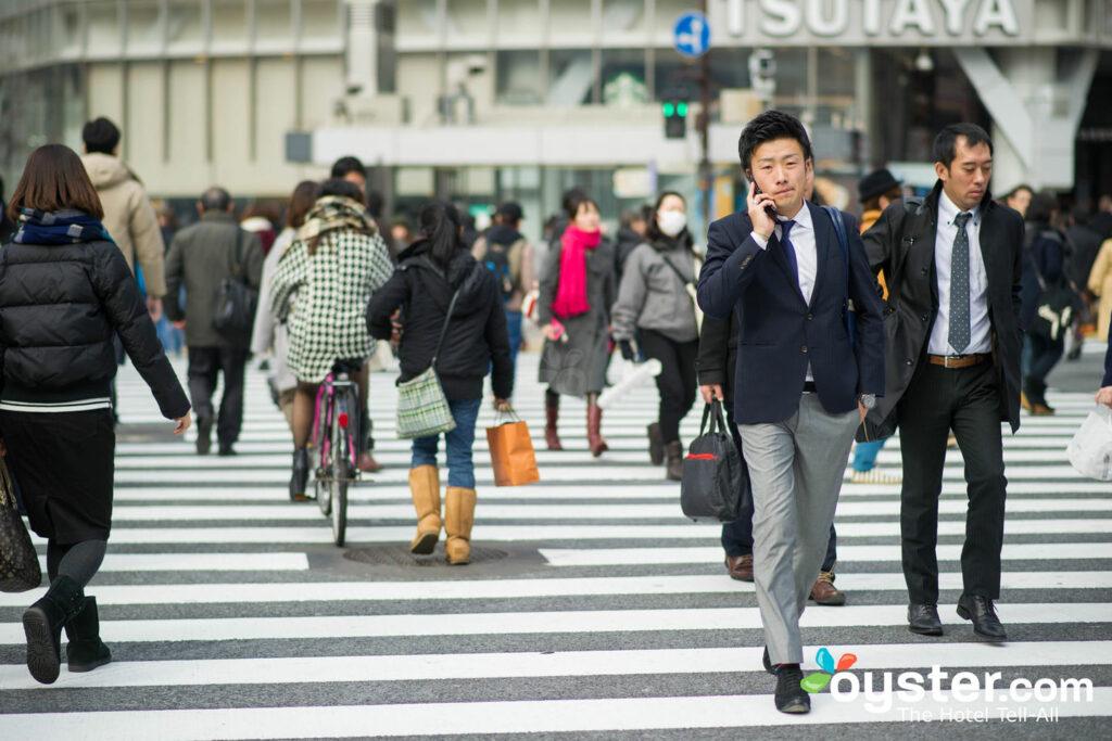 City street in Tokyo
