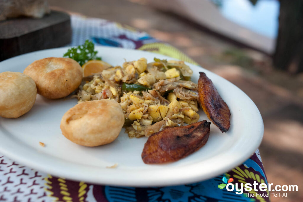 Saltfish and Ackee à Jakes Hotel, Villas & Spa / Oyster