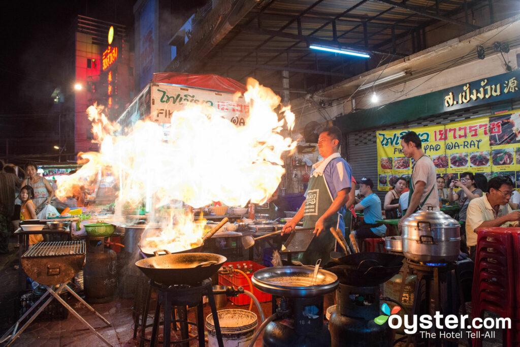 Straßenlebensmittel in Bangkok, Thailand / Auster