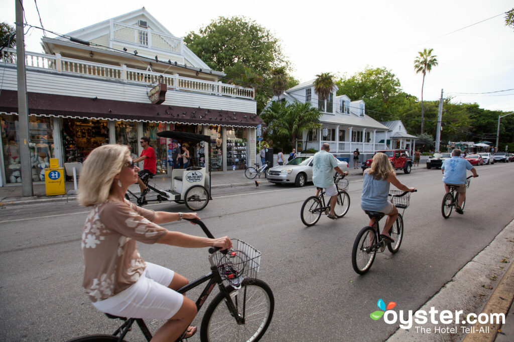 Straße bei Casa 325, Key West / Oyster