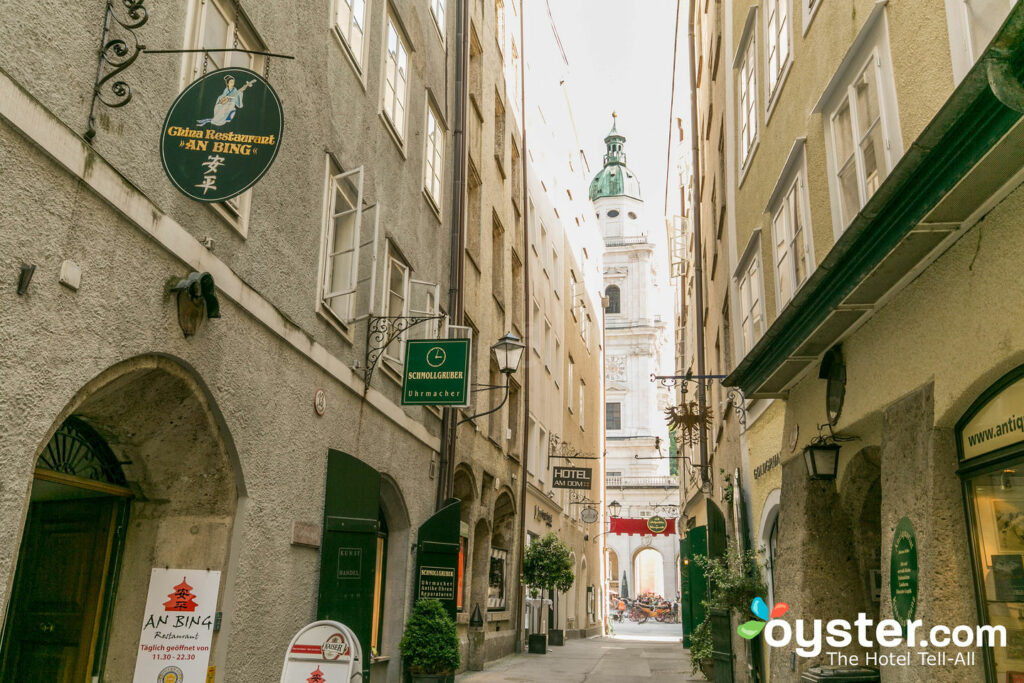 The narrow lanes of Salzburg's Altstadt/Oyster