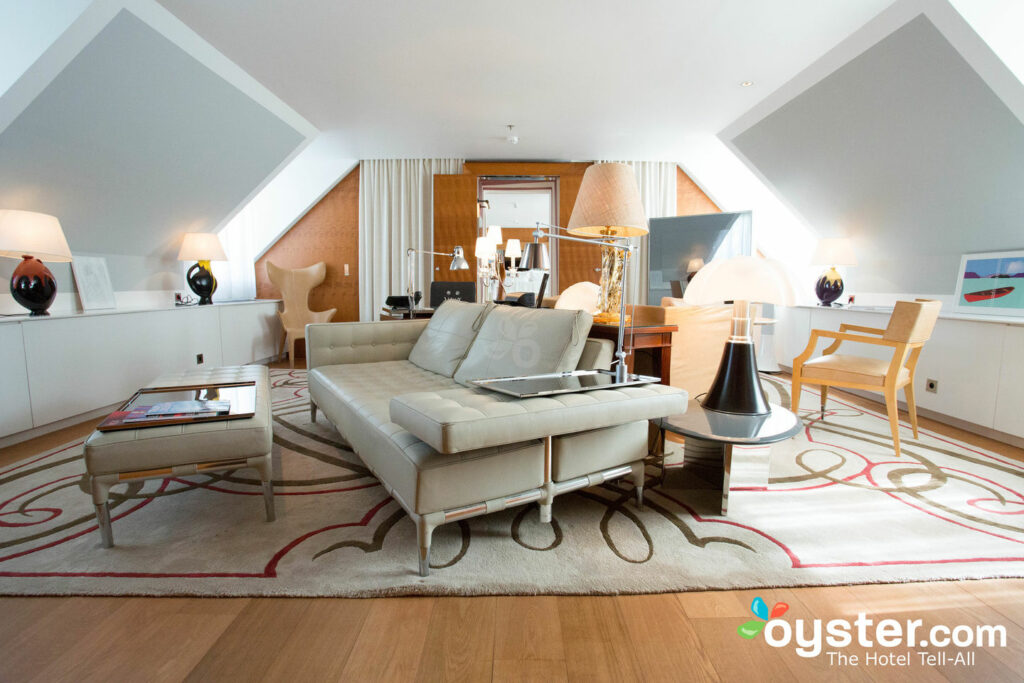 Living Room in the Le Royal Monceau's Suite Lifestyle