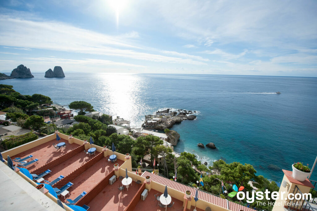 View from Hotel Weber Ambassador Capri/Oyster