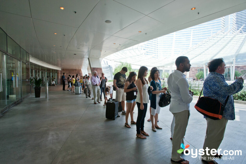 Taxi Line at City Center at Aria Resort & Casino Las Vegas/Oyster