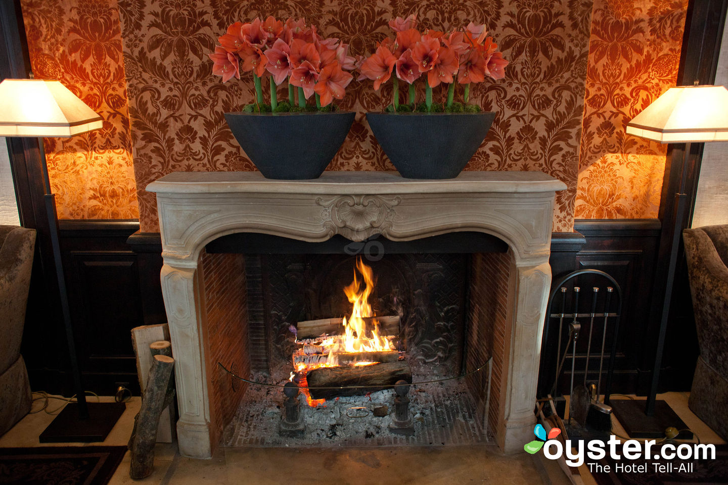 Fireplace at Le Pavillon de la Reine/Oyster