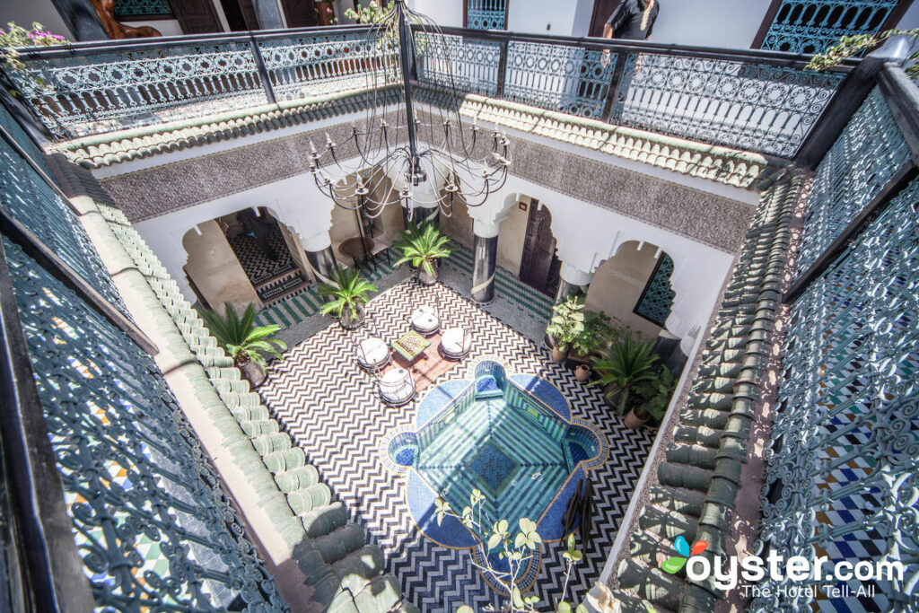 The Courtyard at the Riad El Mansour
