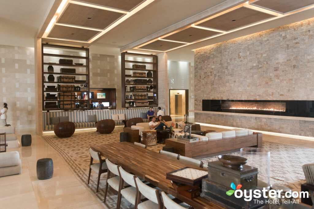Library at Secrets The Vine Cancun