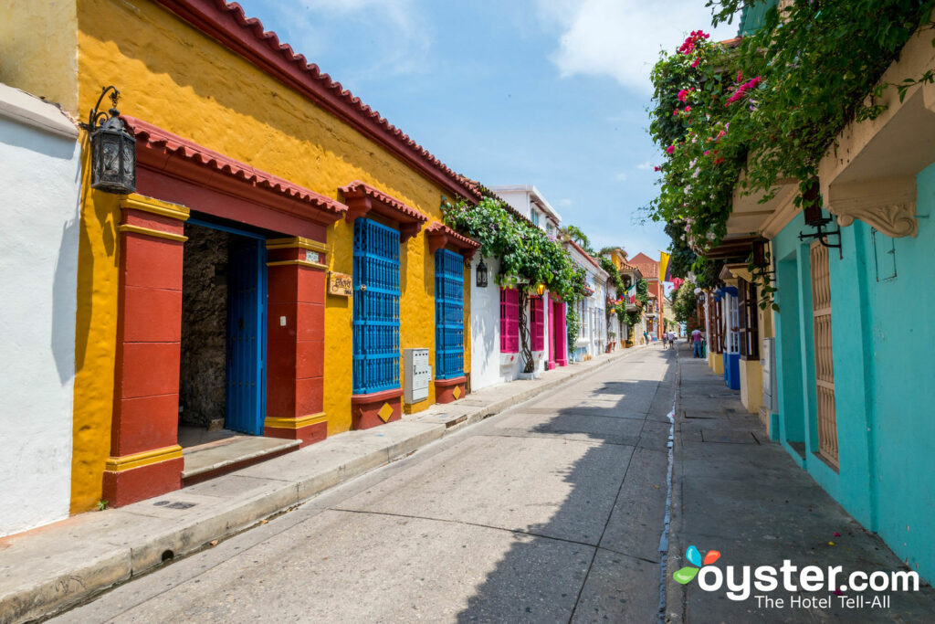 Colorful streets of Cartgena's Walled City/Oyster