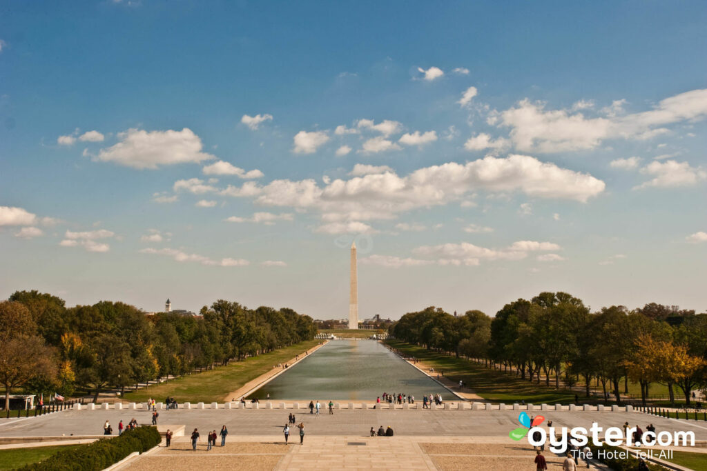 Vista do monumento de Washington, Washington, DC