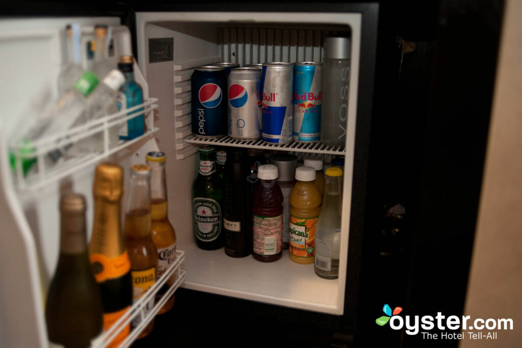 The minibar at the W New York Union Square.