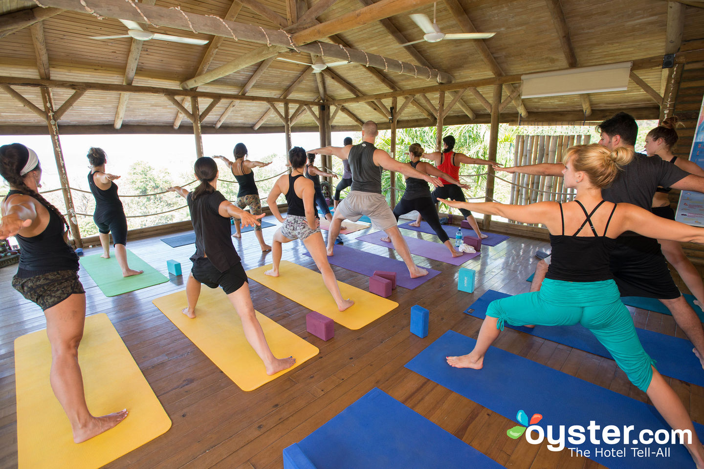 Yoga Deck at the Horizon Ocean View Hotel and Yoga Center in Costa Rica