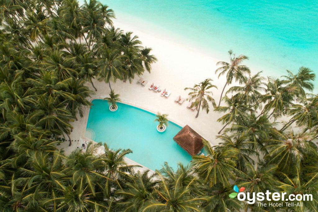 Vista aérea de Gili Lankanfushi, Maldivas