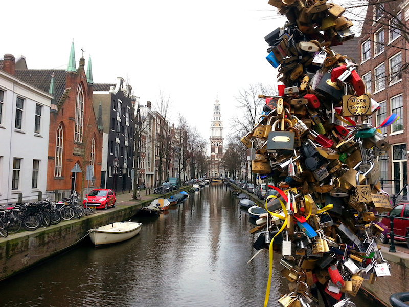 Love Locks, Amsterdã; Carl Mikoy / Flickr