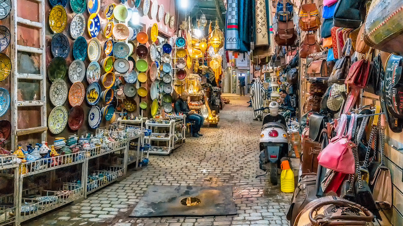 Souk in Marrakech; Steven DosRemedios/Flickr