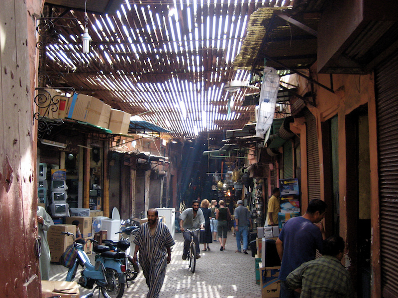 Souk in Marrakech; Evan Williams/Flickr