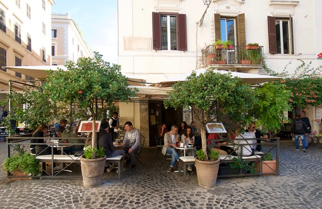 Cafe on Piazza della Madonna dei Monti, Rome