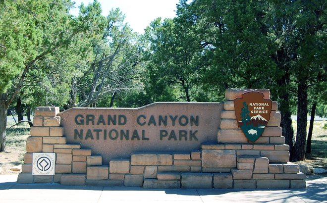 Grand Canyon entrance; Jacob Fillion via Grand Canyon National Park/Flickr