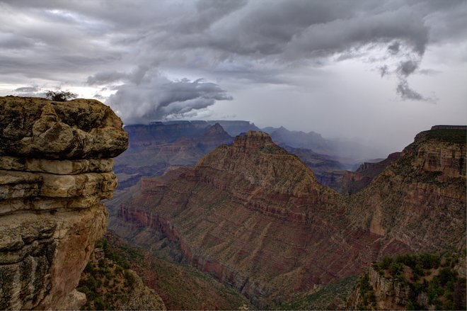 Grand Canyon summer storm; W. Tyson Joye via Grand Canyon National Park/Flickr