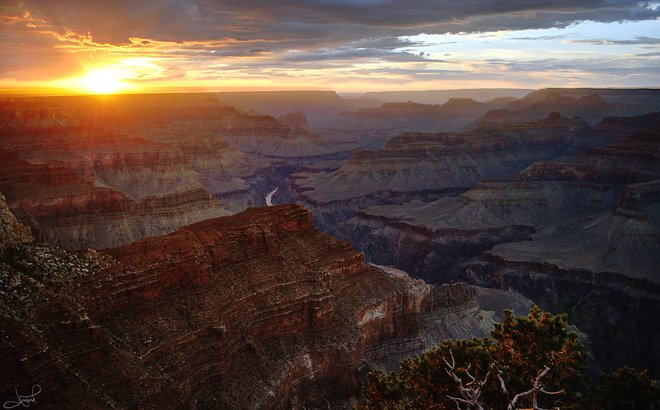 South Rim, Grand Canyon bei Sonnenuntergang; tsaiproject / Flickr