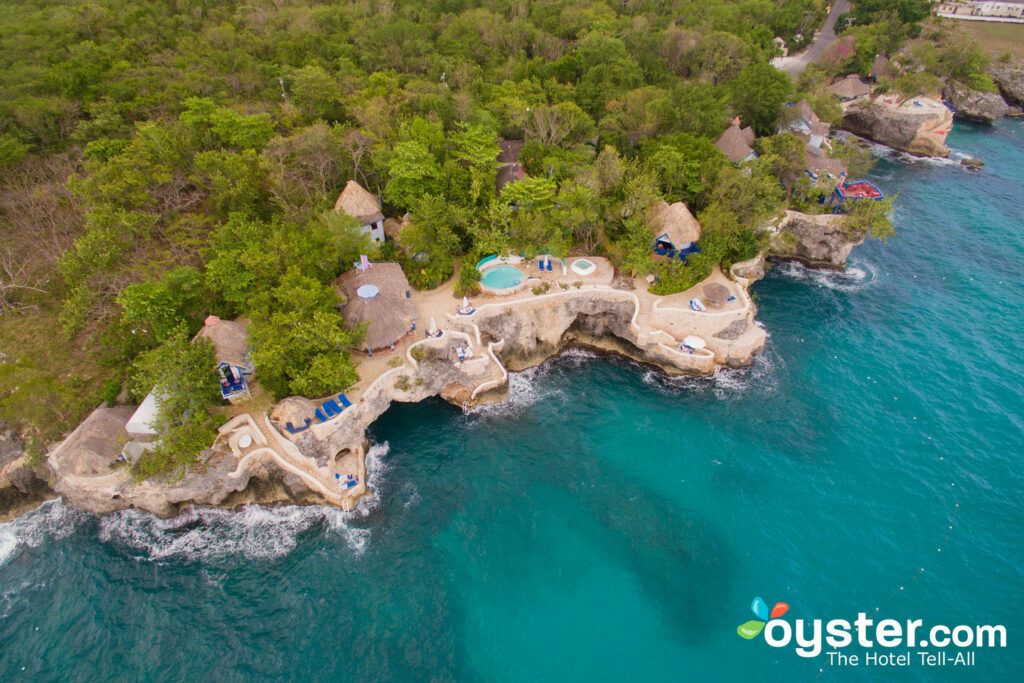 Aerial View of The Caves in Jamaica, an All Inclusive Resort